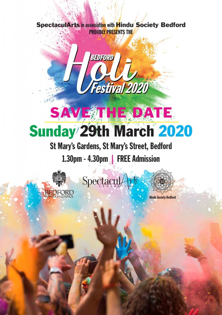 Cancelled - Bedford Holi Festival 2020 @ St Mary's Garden